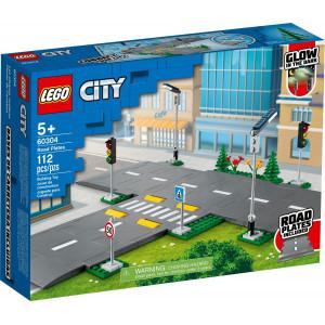 LEGO®Straßenkreuzung mit Ampeln